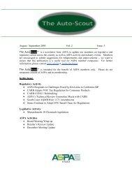 9/30/03 August / September 2003 Vol. 2 Issue: 3 Regulatory Activity ...