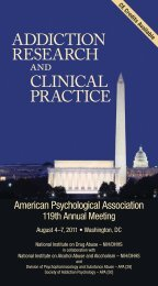 Addiction Research and Clinical Practice - National Institute on Drug ...