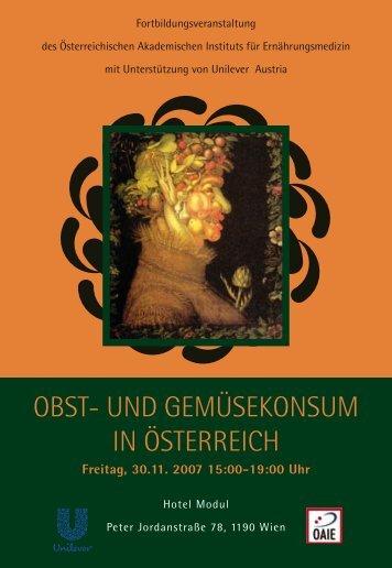 obst- und gemüsekonsum in österreich - Österreichisches ...