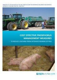 Cost effective phosphorus management