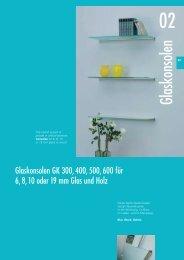 Glaskonsolen - Glas und Spiegel Shop