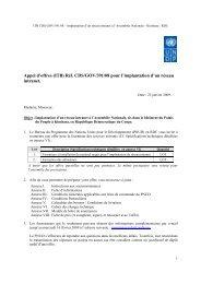 Appel d'offres (ITB) Réf. CDS/GOV/391/08 pour l ... - mediacongo.net