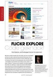 Flickr explore code Geknackt - Fotopraxis.net
