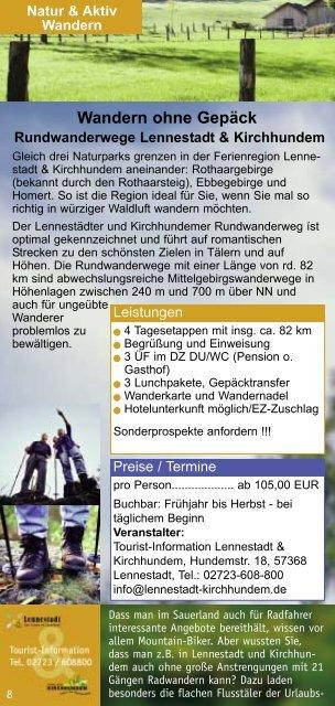 Lennestadt & Kirchhundem Urlaubsideen und Reiseangebote