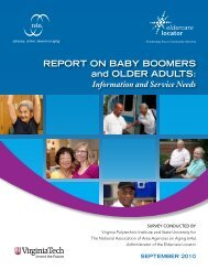REPORT ON BABY BOOMERS and OLDER ADULTS ... - n4a