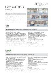 Factsheet der ekz-Gruppe - Die Onleihe