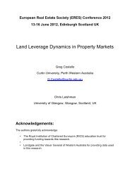 Land Leverage Dynamics in Property Markets