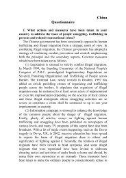 China Questionnaire - Bali Process