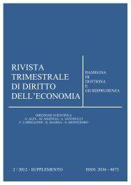 Supplemento al N.2 2012 - Fondazione Capriglione Onlus - Luiss