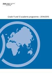 IBDP academic curriculum guide – 2013/2014 - UWC South East Asia