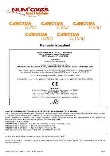Numaxes Canicom 500 Pro User Manual
