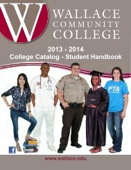College Catalog - Student Handbook - Wallace Community College
