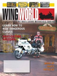 learn how to ride dangerous curves - Wing World Magazine Archives