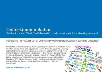 tagung zum thema onlinekommunikation