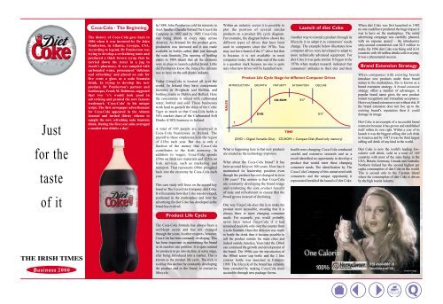 Coca-Cola – The Beginning - Business 2000