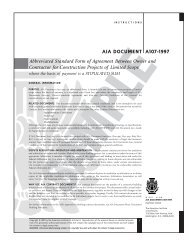 Abbreviated Standard Form of Agreement Between Owner and - wvnet