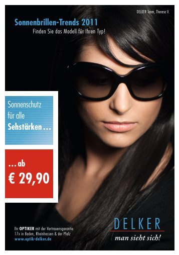 Flyer Sonnenbrille 2011 - Delker Optik