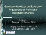 Geoscience Knowledge and Experience Requirements ... - Euro-Ages