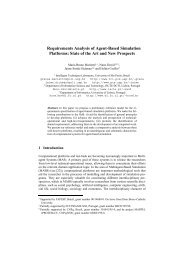 Requirements Analysis of Agent-Based Simulation Platforms: State ...