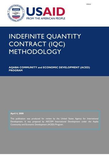 Download Indefinite Quantity Contract (IQC) - Aced-jordan.com