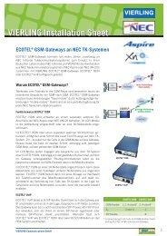 Vierling Ecotel ISDN2-110 GSM zu ISDN Gateway mit Netzteil und Antenne