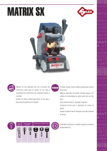 matrix-sx catalogo.pdf - Kaba do Brasil LTDA