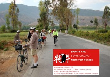 SPORTY YAK 8 DAYS CYCLING Northwest ... - The Yak Traveller