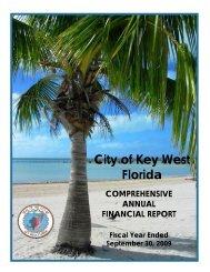 2009 Comprehensive Annual Financial Report ... - KeyWestCity.com