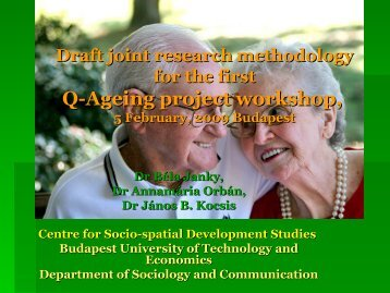 Draft joint research methodology for the first Q ... - Q-AGEING project