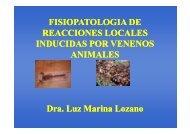 fisiopatologia de reacciones locales inducidas por veneno de ...