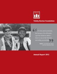 Trinity Boston Foundation Annual Report 2012