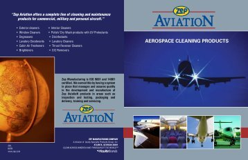 Zep Aviation offers a complete line of cleaning