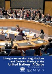 Intergovernmental Negotiations And Decision Making At The - NGLS