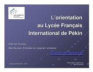 Le bac L - Lycée Français International de Pékin