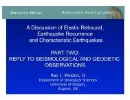 A Discussion of Elastic Rebound,