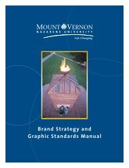 Brand Strategy and Graphic Standards Manual - MVNU Intranet ...