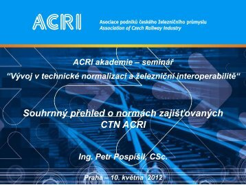 Ing. Petr Pospíšil, CSc. (pdf) - ACRI
