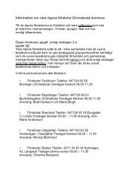 Information om våra öppna förskolor Emmaboda kommun