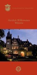 Herzlich Willkommen Welcome - Schlosshotel Kronberg