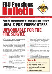 Pensions Bulletin Number 4 - Fire Brigades Union