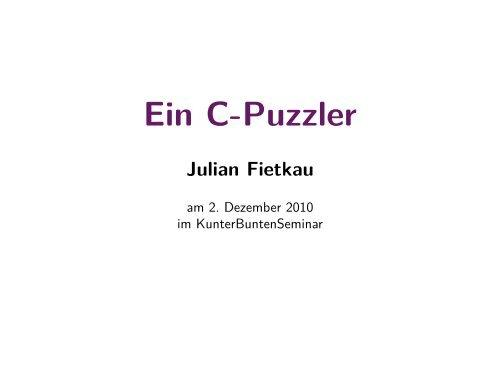 Ein C-Puzzler - julian-fietkau.de