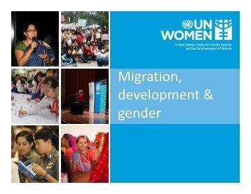 Migration, development & gender - IOM