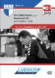 TSV OWSCHLAGgegen Rostocker HC