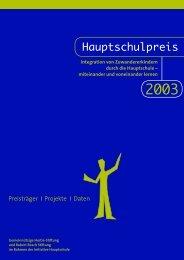 """2 Der Hauptschulpreis 2003: """"Integration von ... - Hertie Stiftung"""