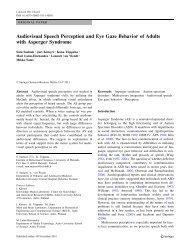 Audiovisual Speech Perception and Eye Gaze Behavior of Adults ...