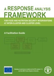 A Response Analysis Framework for Food and Nutrition ... - FAO