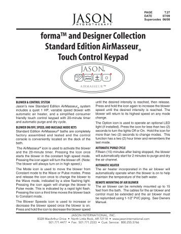 forma-Designer Standard Touchpad - Jason International