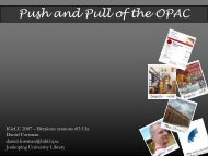Push and Pull of the OPAC - IGeLU