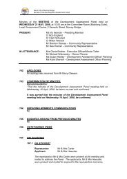 Development Assessment Panel Meeting Minutes 21 May 2008