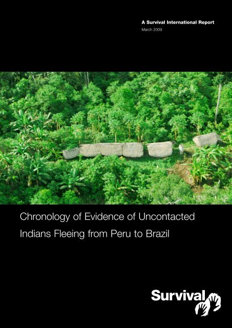 Chronology of Evidence of Uncontacted Indians Fleeing from Peru ...